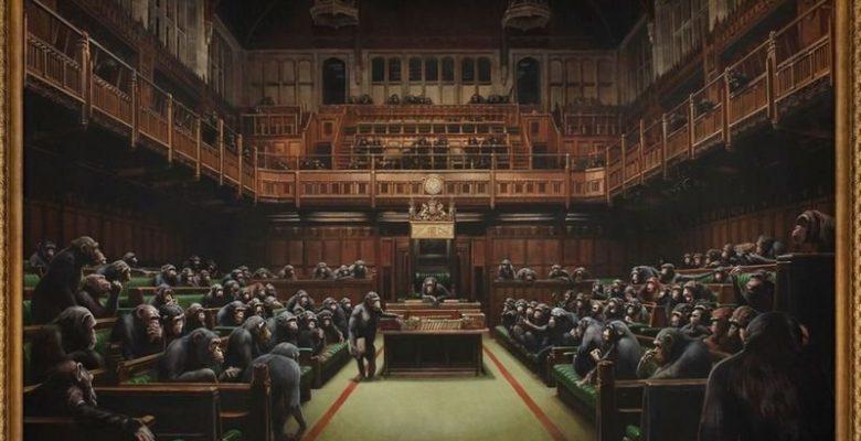 Banksy'nin Monet tablosu 10 milyon dolara satıldı