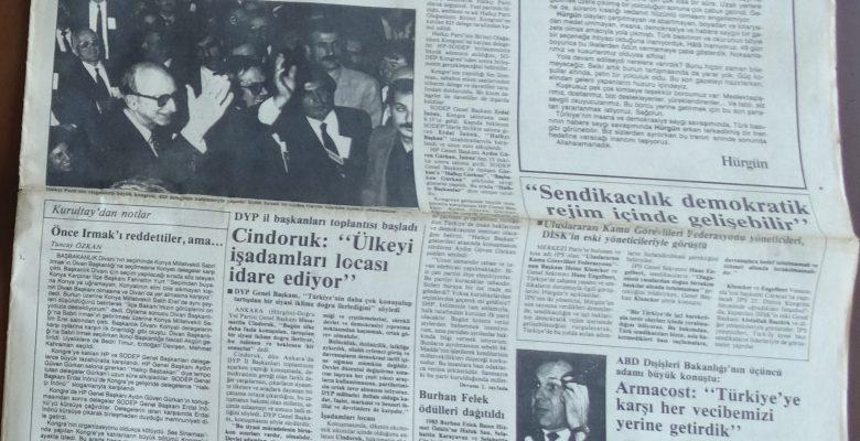 HÜRGÜN 3 KASIM 1985 PAZAR SON SAYI