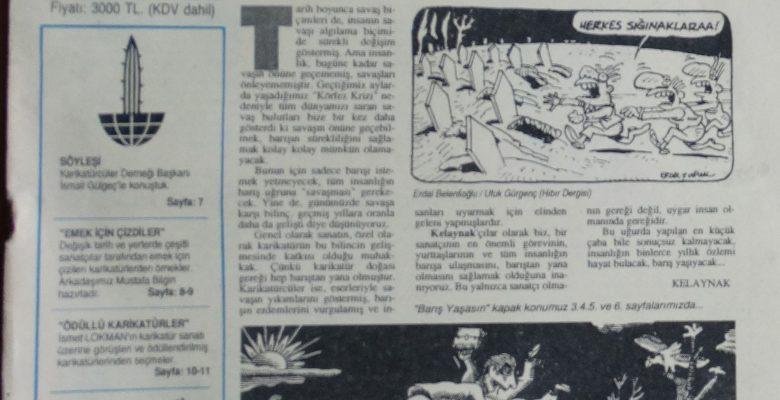 SON KELAYNAK MAYIS 1991 AYLIK KARİKATÜR DERGİSİ