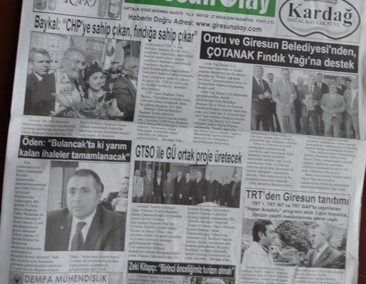GİRESUN OLAY GAZETE 27 NİSAN 2009