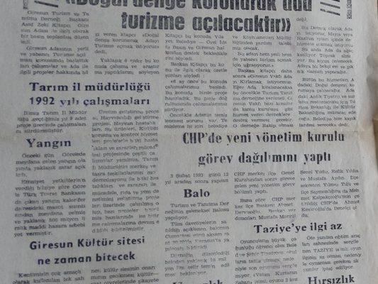 GÜNDÜZ GAZETESİ 10 ŞUBAT 1993