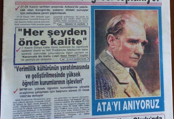 KALKINMADA ANAHTAR VERİMLİLİK KASIM 1991
