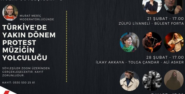 TAKSAV Kadıköy'de 1970'lerden günümüze Türkiye'de protest müzik konuşulacak