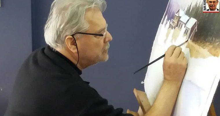 Suluboyaya egemen bir ressam Hasan Kırdı