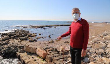 Deniz çekildi 3 bin yıllık liman ortaya çıktı