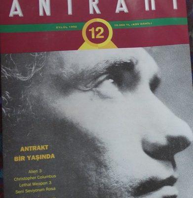 ANTRAK AYLIK SİNEMA DERGİSİ EYLÜL 1992