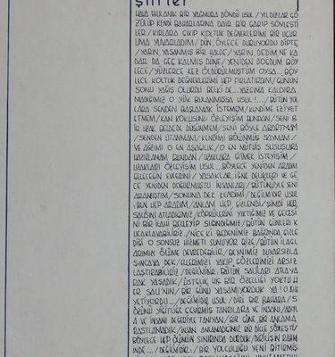DİLİN İSYANI ŞİİRLER ŞUBAT 1985